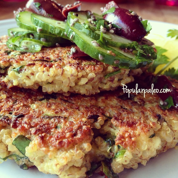 Greek Quinoa Burgers... a questionably Paleo offering. | Popular Paleo
