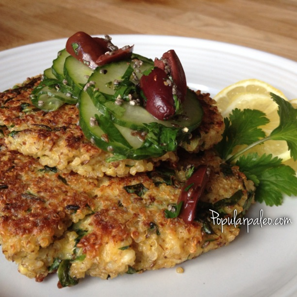 Greek Quinoa Burgers... a questionably Paleo offering ...