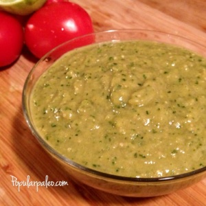 Creamy Roasted Tomatillo Salsa | popularpaleo.com