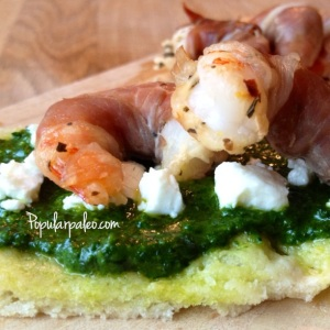 Prosciutto Wrapped Prawns | popularpaleo.com