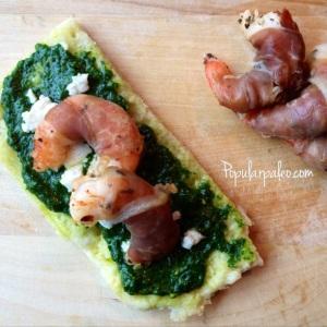 Prosciutto-Wrapped Prawns | popularpaleo.com