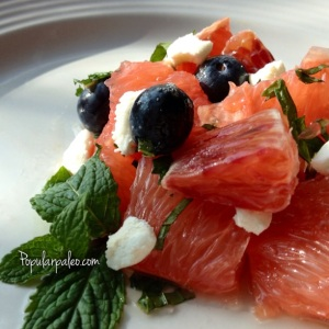 Citrus Mint Salad with Honey Syrup | popularpaleo.com