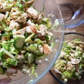 Chicken & Brussels Sprouts Salad   popularpaleo.com