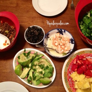 Surf & Turf Taco Salad Feast | popularpaleo.com