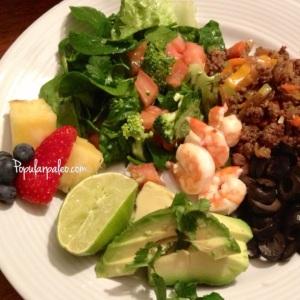 Surf & Turf Taco Salad | popularpaleo.com