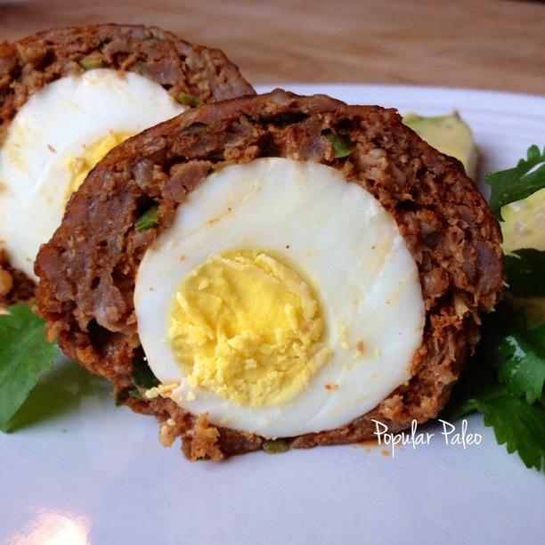 Spicy Chorizo Scotch Eggs | popularpaleo.com