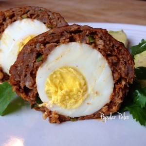Spicy Chorizo Scotch Eggs | popularpaleo.com