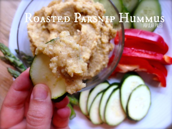 Roasted Parsnip Hummus Main | Popular Paleo