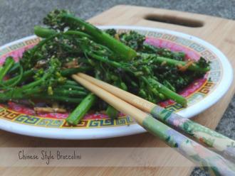 Chinese Style Broccolini    Popular Paleo