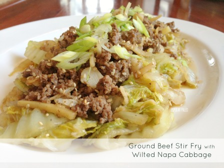 Ground Beef Stir Fry with Wilted Napa Cabbage     | Popular Paleo