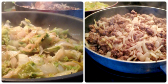 Ground Beef Stir Fry with Wilted Napa