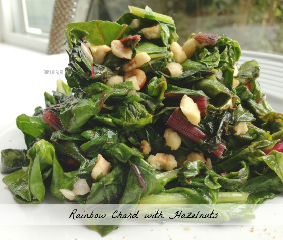 Rainbow Chard with Hazelnuts | Popular Paleo
